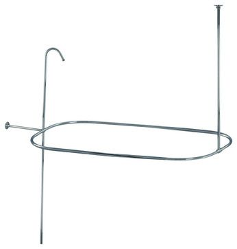 Shower Curtain Rod/ Shower Riser Set - contemporary - showers - Overstock.com
