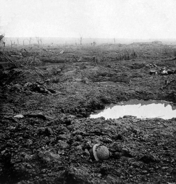 World War I, no man's land near Lens, France, ca. 1918