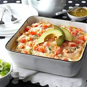 Salsa Verde Chicken Casserole Recipe from Taste of Home