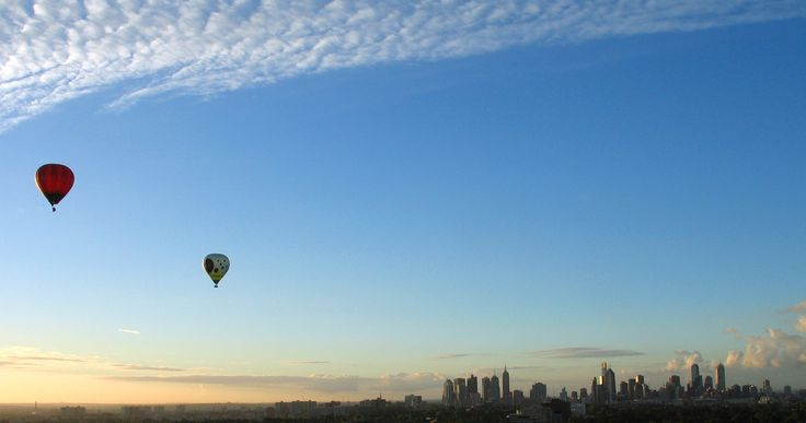 Ballooning over North Melbourne