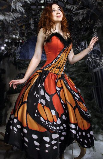 """Dress """"Butterfly"""", inspired by butterflies, long, for any occasion"""