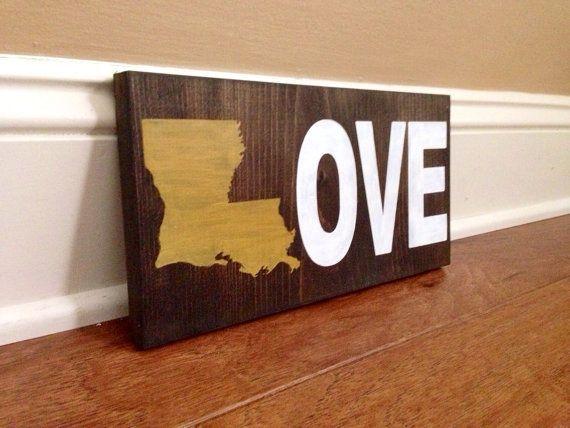 Hey, I found this really awesome Etsy listing at https://www.etsy.com/listing/199345052/louisiana-love-wood-sign-custom-lousiana