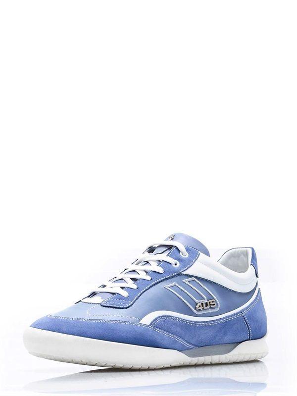 Cesare Paciotti - Blue Genuine Leather Sneakers.