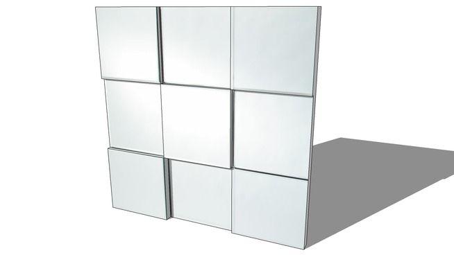 MIROIR TECTONIQUE, Maisons du monde. Réf: 138256 prix149,90 € - 3D Warehouse