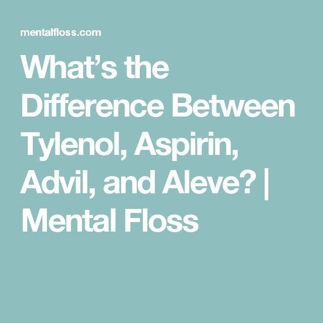 Ibuprofen And Aspirin Difference