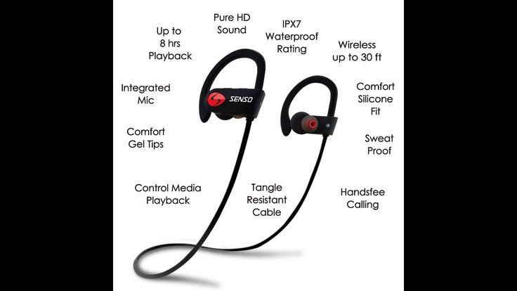Best Noise Cancelling Headphones Review   SENSO Wireless IPX7 Waterproof Stereo Bluetooth Earphone https://www.youtube.com/watch?v=WWW9XUURdYQ