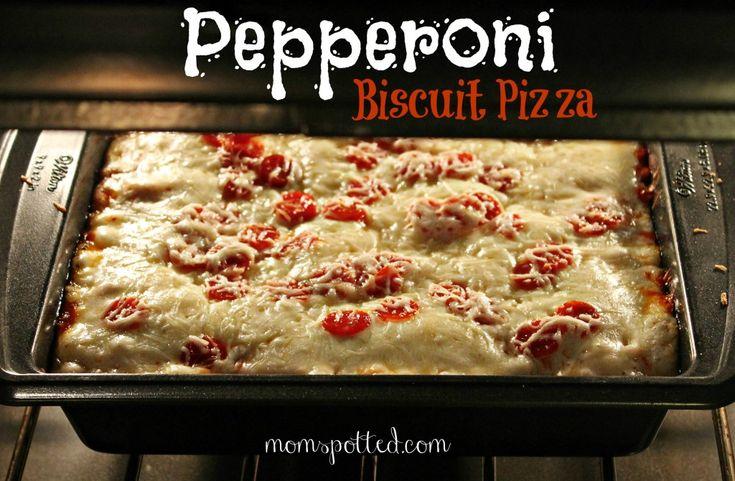 Pepperoni Biscuit Pizza {Recipe}