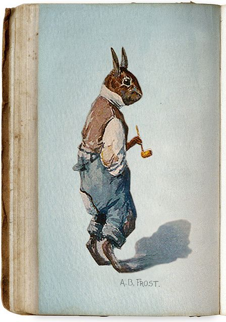 """""""Br'er Rabbit"""" (early 20th century) by A.B. Frost"""