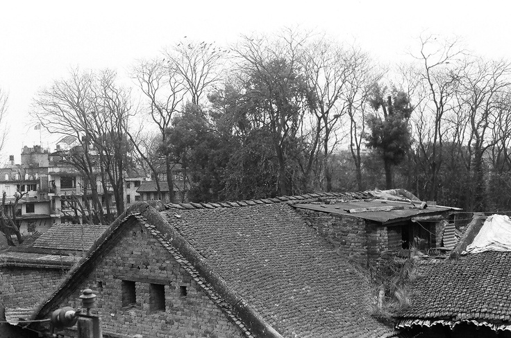 Old Houses, Patan - Nepal .. Shot with Asahi Pentax 1976 on ILFORD PAN 100