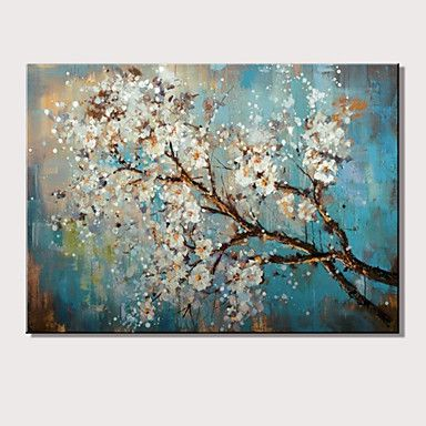 Mini size hand-Painted Abstract Landscape Modern Blooming Flowers Oil Painting On Canvas Ready To Hang One Panel 4888599 2016 – $33.99