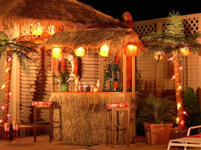 Backyard tiki bar...I need to live somewhere warmer...