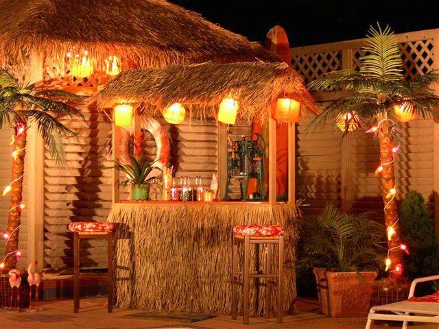 tiki garden ideas backyard luau party