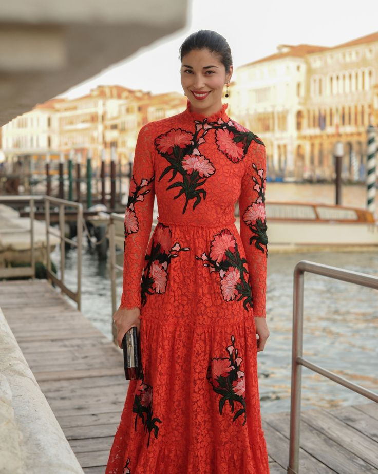 Lady in red Caroline Issa attending our #mytxerdem event in Venice. #mythosts