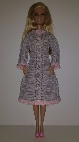a59a371c7 Ravelry  Pink and Grey Coat pattern by Katrinna Fruit