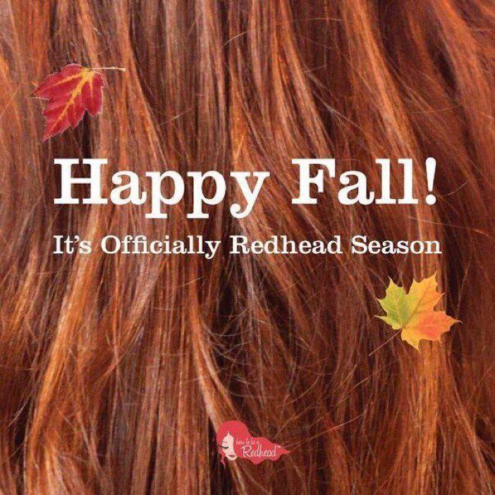 Welcome Autumn. #h2bar   Fall red hair