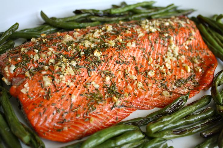Garlic and Rosemary Roasted Salmon. Insanely delicious and incredibly SIMPLE!