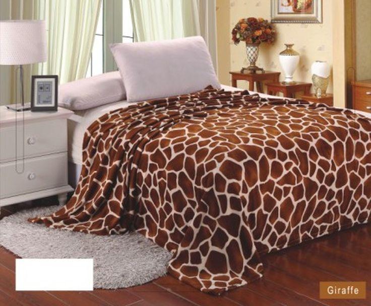Animal Print Ultra Plush Giraffe King Size Microplush Blanket