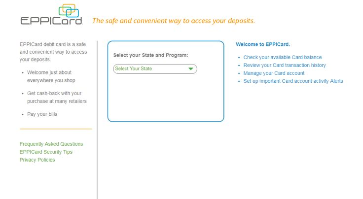 Use your eppicard debit card login to manage your account