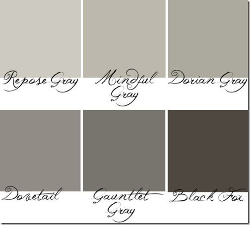 Greige Sherwin Williams SW7015 SW7020 Or Repose Grey To Black Fox Paint