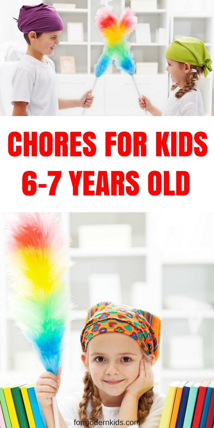The perfect age appropriate chores for 6-7 year olds. Great explanation of how to implement them too!