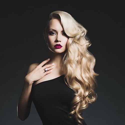 Human Straight or Wavy Flip-In Halo Hair Extensions Color 613 Platinum Blonde