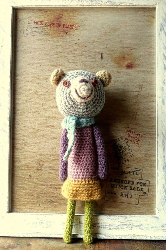 かぎ針編みのくまのアイデア♡お目目のボタンがポイントのくまちゃん❤︎