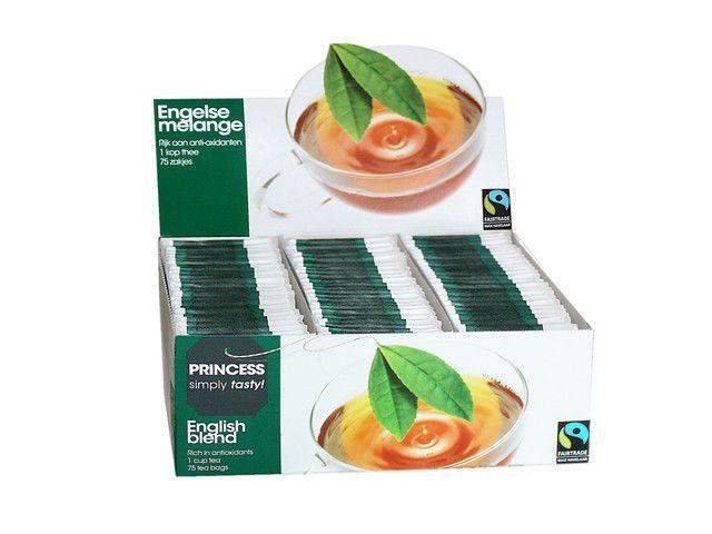 PRINCESS Tea 20 x pack 75 pcs = 1500 bags! tea with the Max Havelaar label! #Princess