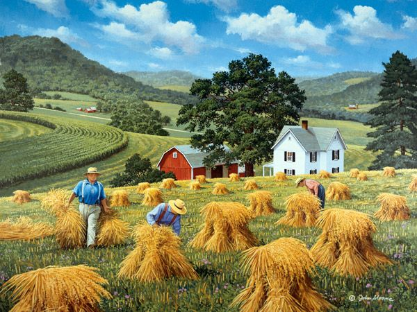 JohnSloaneArt.com - John Sloane - Gallery - Hay and Harvest