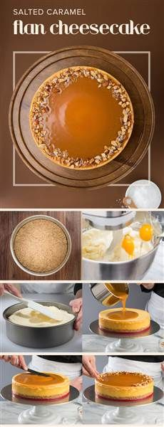 Pinterest TOPS for Salted Caramel Flan Cheesecake; recipe courtesy of Eli's Cheesecake