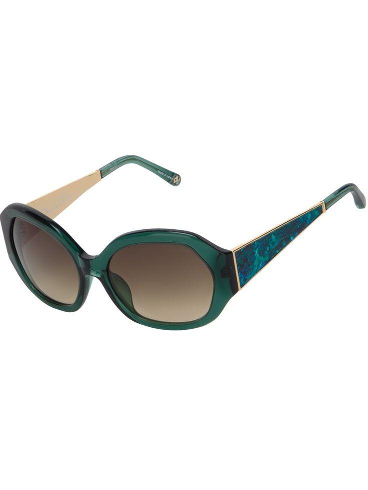 OSCAR DE LA RENTA BY LINDA FARROW big retro-style sunglasses