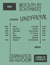 AdHoc Unofficial SxSW Showcase - Tickets - Cheer Up Charlie's - Austin, TX, March 15, 2017   Ticketfly RSVP's for 5