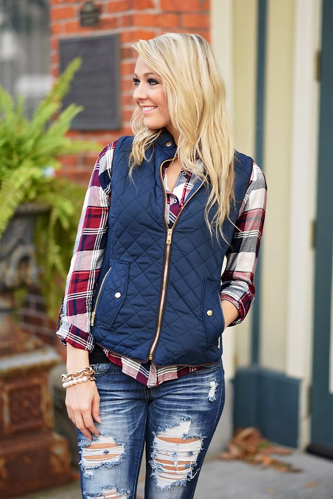 Quilted Vest - Navy * Pulse Boutique
