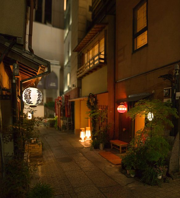 Atmospheric backstreet alley of Ginza, Tokyo by ippei + janine, via Flickr