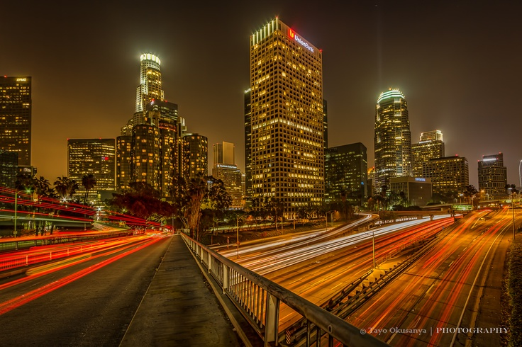Night time at Downtown LA