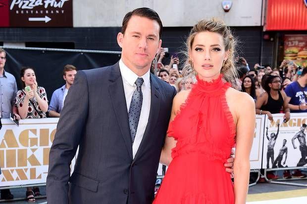 Channing Tatum y Amber Heard posan en la alfombra roja en Magic Mike XXL Londres estreno - Noticias de famosos - Showbiz - London Evening Standard