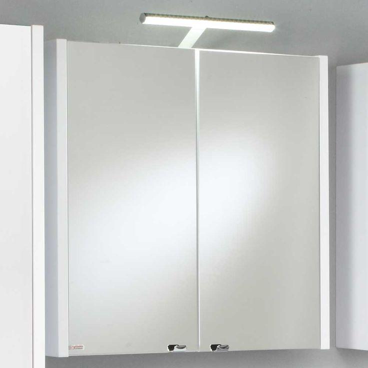 Die 25+ besten Badezimmer spiegelschrank mit beleuchtung Ideen auf ... | {Spiegelschrank holz weiß 43}