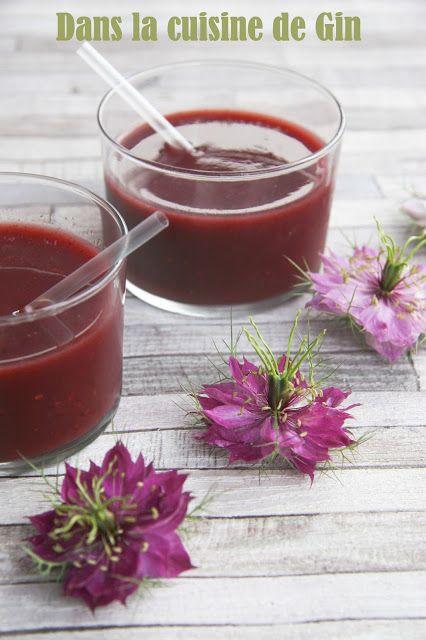 Spring shot aux fruits rouges  Jus désaltérant aux fruits rouge et concombre