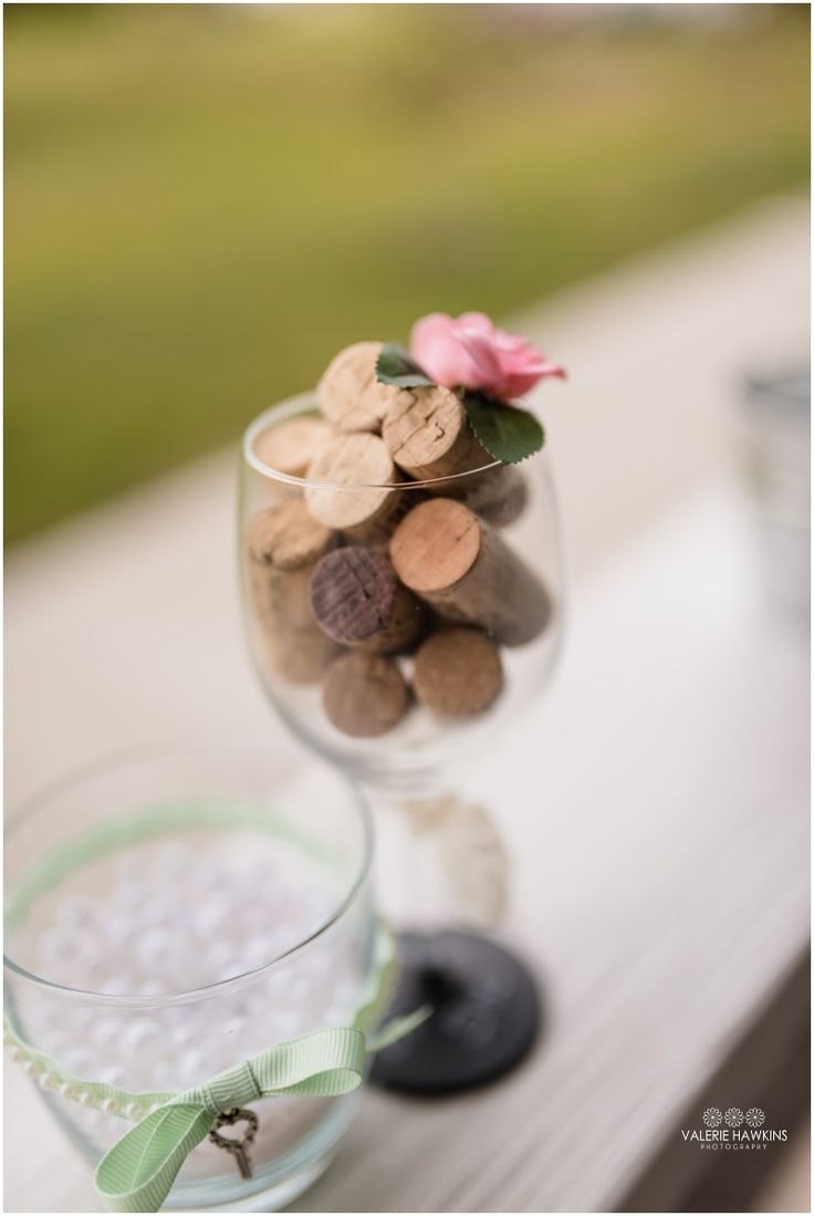 Pink, Mint Green, Gray, Lace & Pearls, wine corks   ....  Valerie Hawkins Photography: Magnolia Estate Wedding   Nate & Tiffany