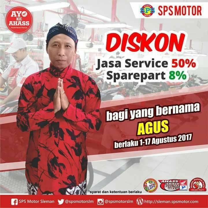 Diskon Jasa Service 50% Bagi yang bernama AGUS