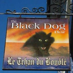 The Black Dog of Bouley Bay, Jersey, Channel Islands, the name is taken from the…