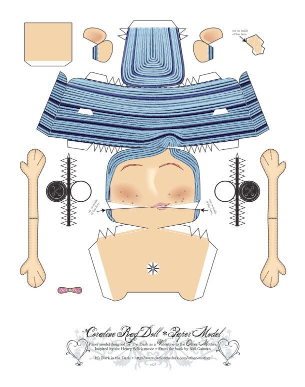Pin By Oriana Sofia On Hhkl Coraline Doll Coraline Paper Dolls Printable