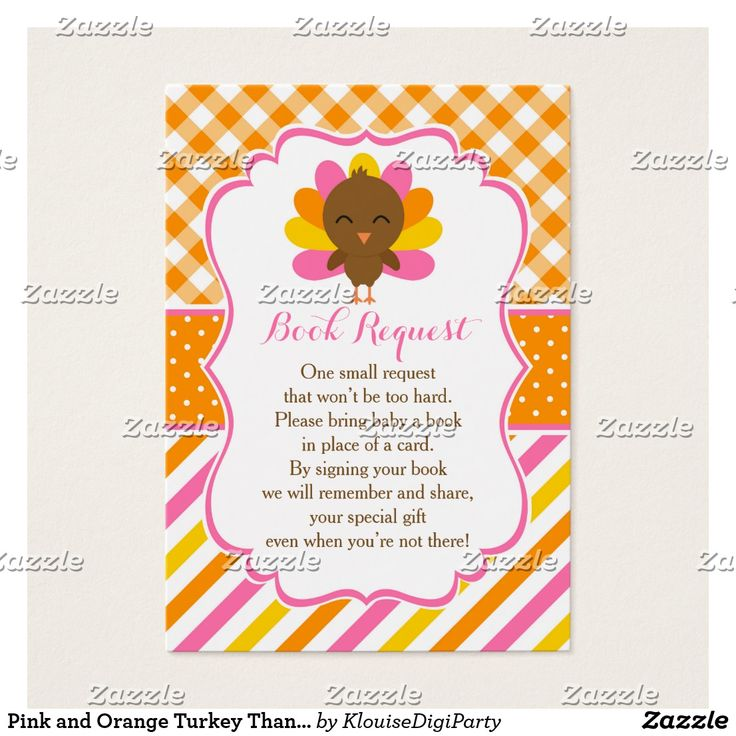 7 best Pink and Orange Turkey Thanksgiving Baby Shower images on ...