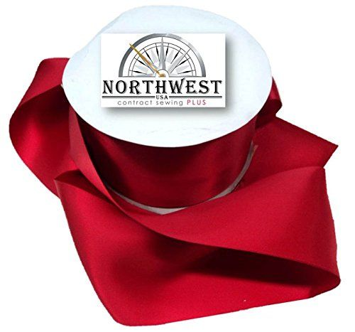 Northwest Contract Sewing 3In Wide Satin Ribbon 5-50 Yards In Many Colors (50 Yards, Red) * Details can be found by clicking on the image.