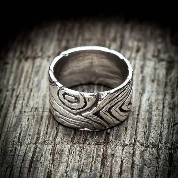 Wood Grain Ring in sterling silver oxidized wood by BrazenDesign, $75.00