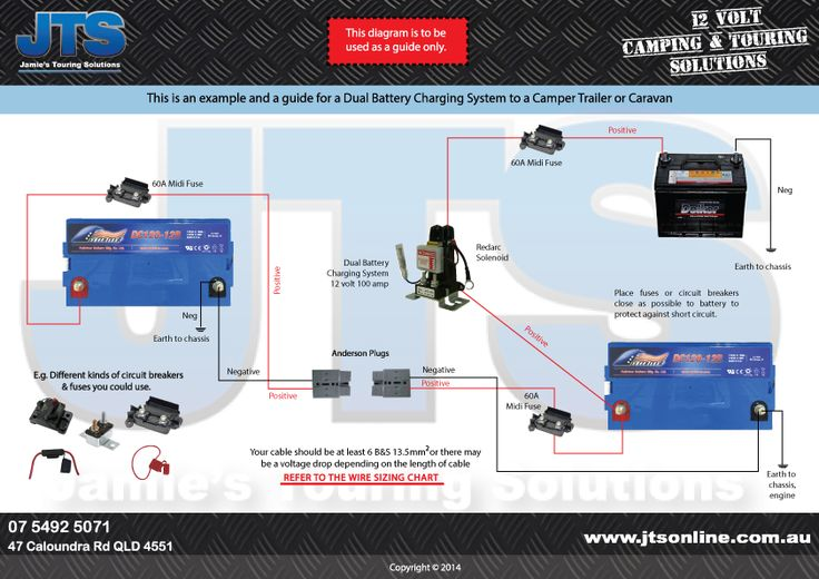simple vehicle  camper dual battery system with isolator 12 Volt Trailer Wiring Diagram