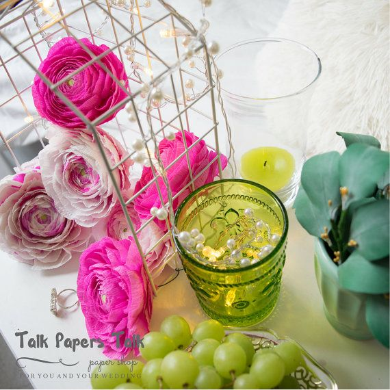 Diy flower wedding centerpieces with lights  by TalkPapersTalk