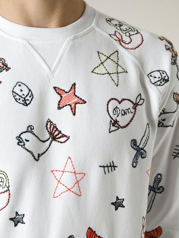 Dsquared2 Embroidered Sweatshirt - Coltorti - Farfetch.com
