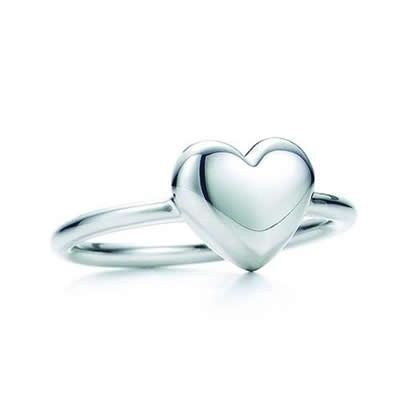 Tiffany And Co Ring Heart Wire Silver 055