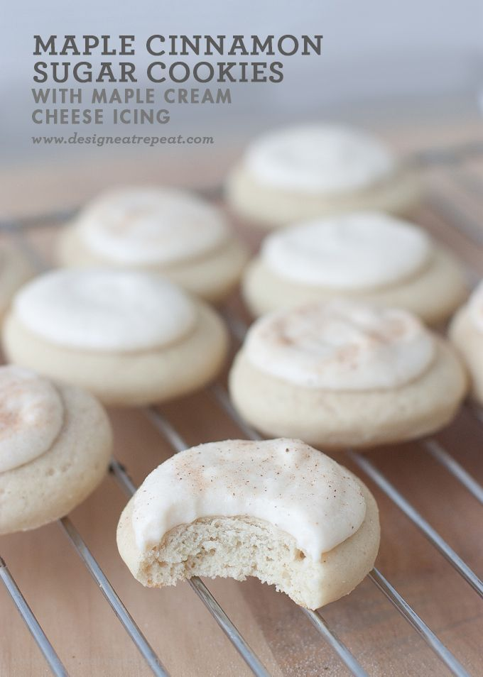 Soft Maple Cinnamon Sugar Cookie with Cream Cheese Maple Glaze