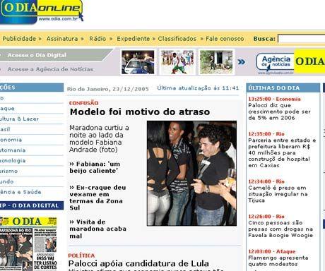 En Brasil, dicen que Maradona pasó la noche en una disco